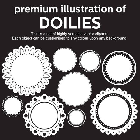 doiley: premium illustration of doilies Illustration