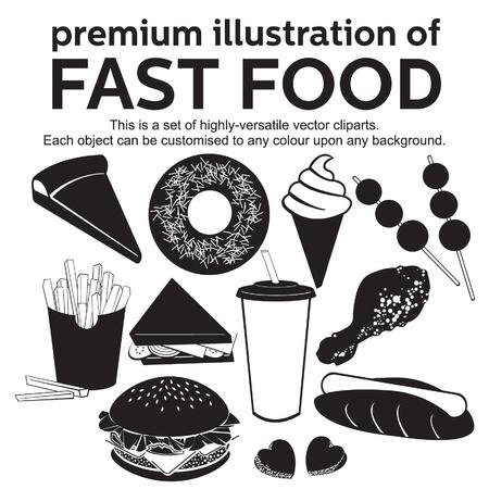 sandwich de pollo: ilustración prima de la comida rápida