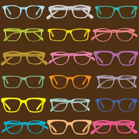 eyewear fashion: glasses seamless pattern