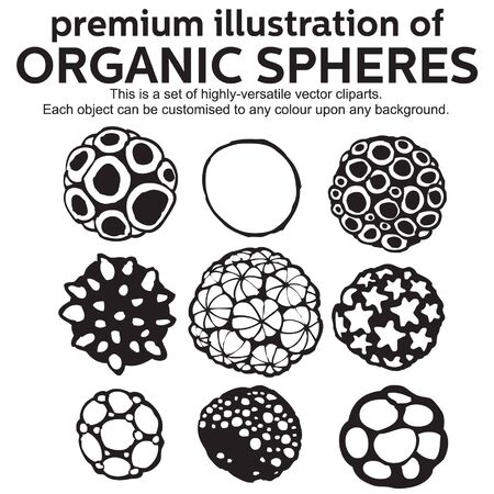 premium illustration of organic sphere Vector