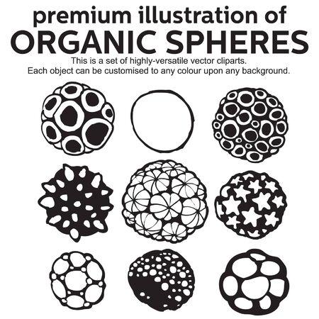 round logo: premium illustration of organic sphere