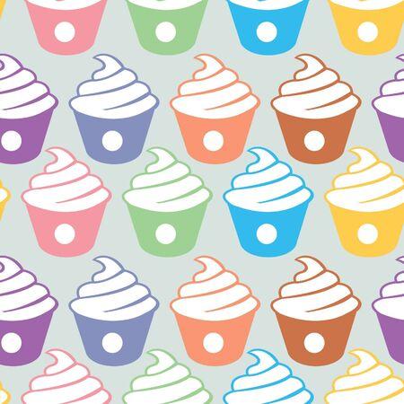 cupcakes seamless pattern Stock Vector - 15514789
