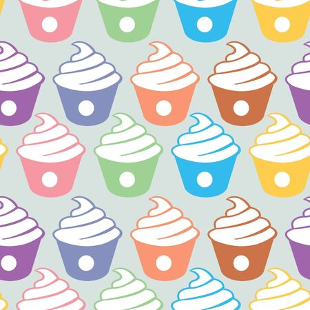 cupcakes seamless pattern Stock Vector - 15514789