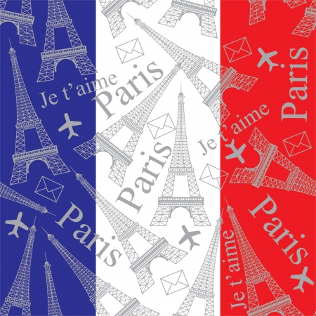 Eiffel Tower seamless pattern Vector
