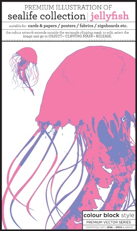 beach side: jellyfish Illustration