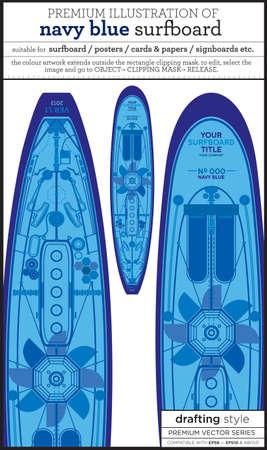 techie: blue surfboard