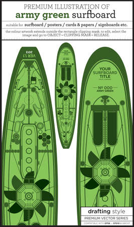 green surfboard Vector