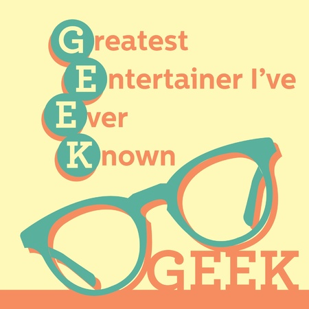 eyewear fashion: geek glasses Illustration