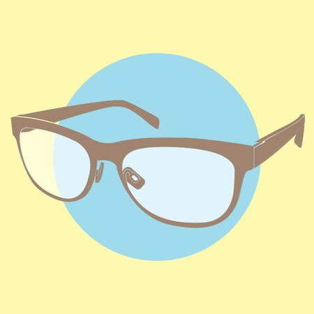 eyewear fashion: retro glasses Illustration