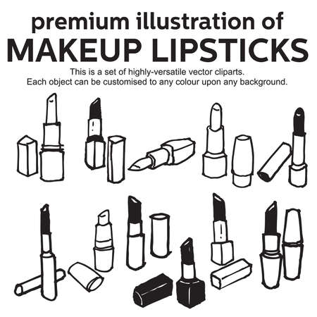 hand drawn lipstick Stock Vector - 17308387