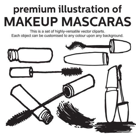 hand drawn mascara Stock Vector - 17308389