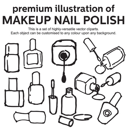hand drawn nail polish Stock Vector - 17308388