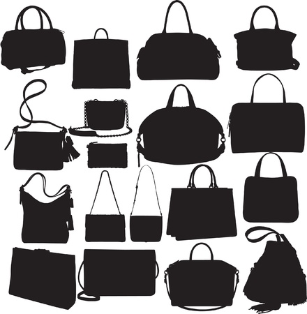 Handbags Silhouette Set