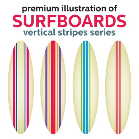 surfboard: VECTOR SURFBOARD DESIGN Illustration