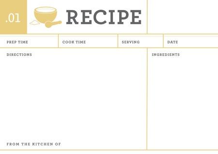レシピ カード