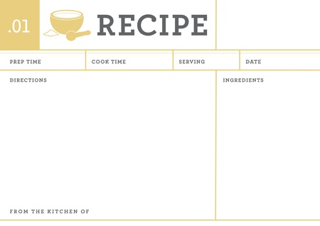pestel: RECIPE CARD Illustration