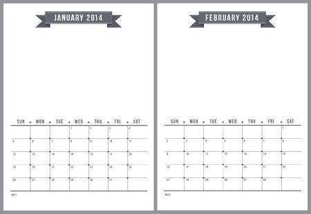 2014 カレンダー、6 のパート 1