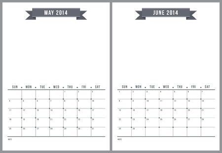 2014 calendar, part 3 of 6  Illustration