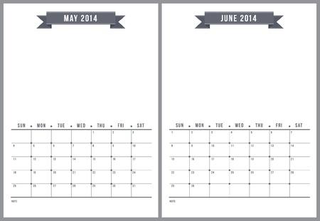 2014 calendrier, la partie 3 de 6 Illustration