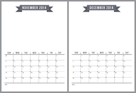 2014 calendrier, la partie 6 de 6 Illustration