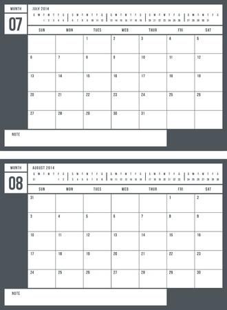 2014 calendar, part 4 of 6