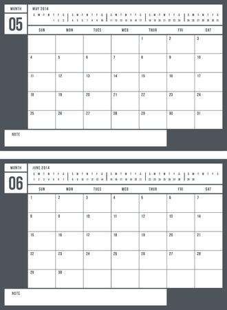 2014 calendar, part 3 of 6