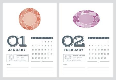 7 の 2 誕生石カレンダー 2014