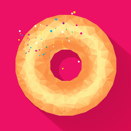 front angle: donut vector