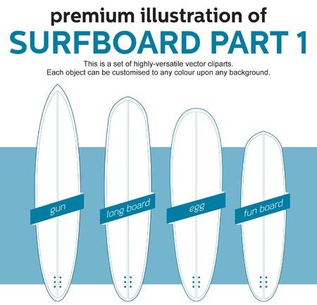 blank surfboard template, part 1 Vector