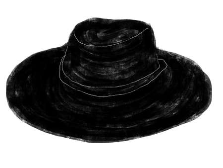 straw hat: straw hat illustration
