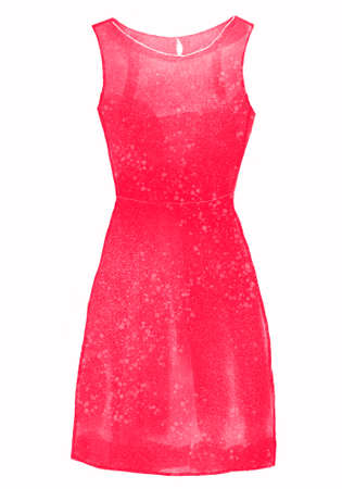 pink shift dress illustration Stock Photo