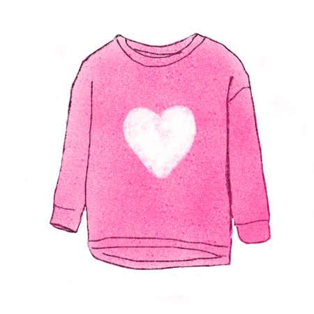 sueter: ilustración suéter rosado
