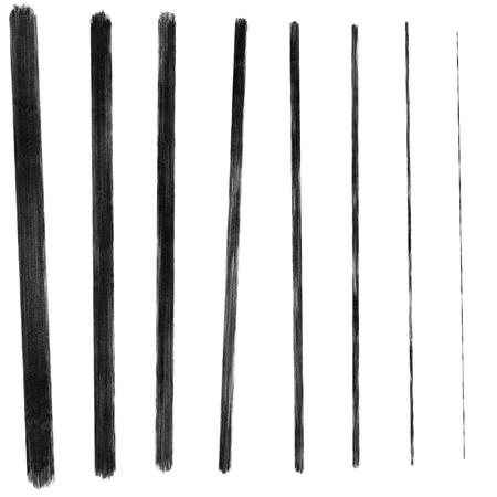 handgetekende natte acryl grenslijnen Stockfoto