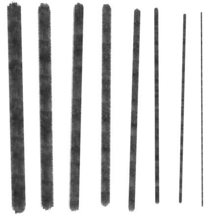 hand drawn gouache border lines, Stock Photo
