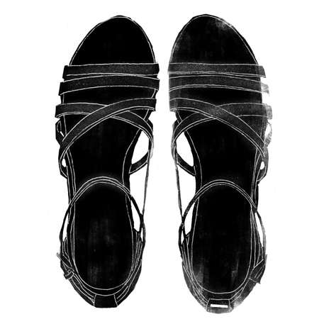 wedge: wedge sandals illustration Stock Photo