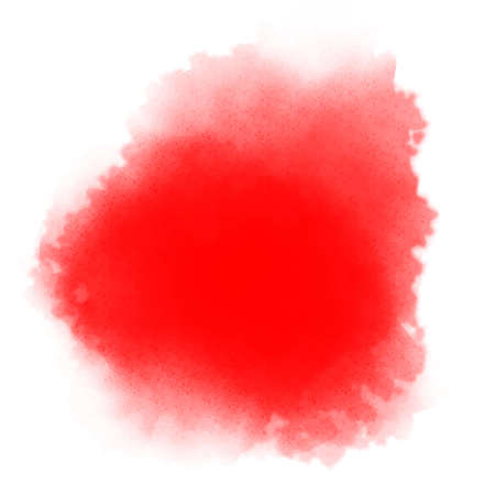 watercolor smear: bright red watercolor background Stock Photo