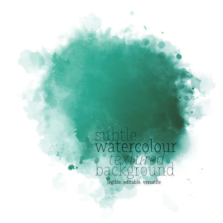 green watercolor splash Illustration