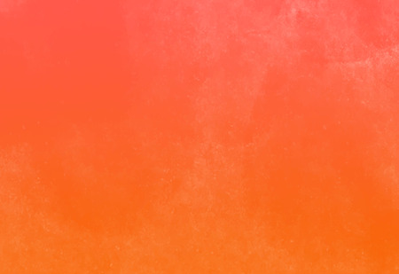 bright orange color textured painted wall. water color paper. warm tone gradient background.  イラスト・ベクター素材