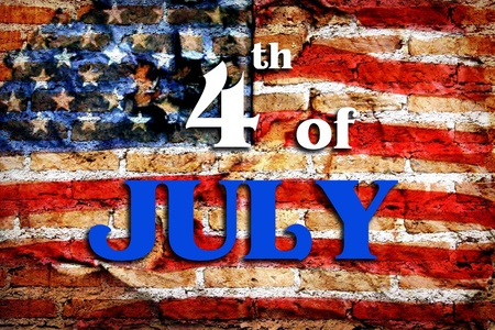 4th of July - Independence Day in grunge vintage texture