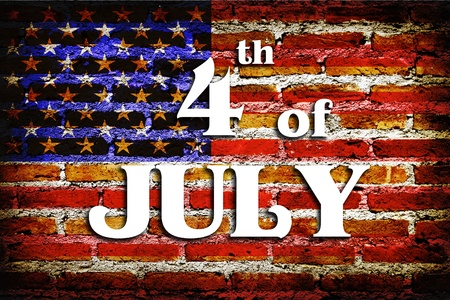 4th of July - Independence Day in grunge vintage texture Stock Photo - 9857639