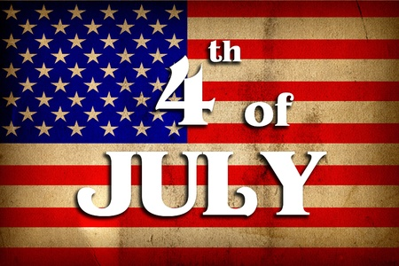 4th of July - Independence Day in grunge vintage texture Stock Photo - 9857633