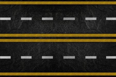 Motif sur la texture de la route avec bande jaune et blanc Banque d'images