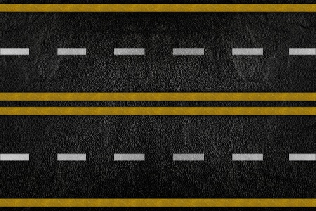 Pattern on road texture with yellow and white stripe Stock Photo - 9972213