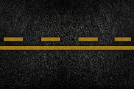 road texture: Modello sulla trama di strada con striscia gialla