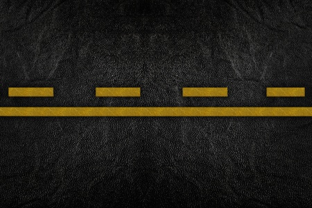 Pattern on road texture with yellow stripe Stock Photo - 9972210