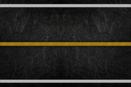 road texture: Modello su texture strada con striscia gialla e bianca