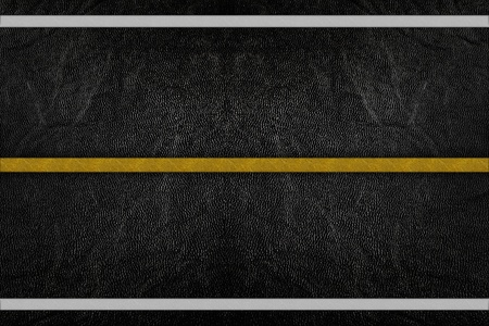 Pattern on road texture with yellow and white stripe photo
