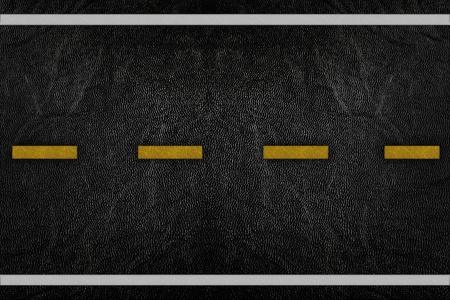 road texture: Modello sulla trama strada con striscia gialla e bianca