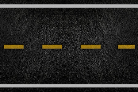 Pattern on road texture with yellow and white stripe Stock Photo - 9972212