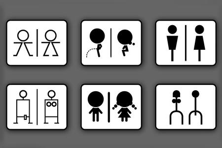 Toilet symbols for men and women Stock Photo - 9972701